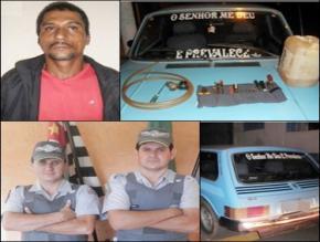POLÍCIA MILITAR DE IPAUSSU PRENDE AUTOR DE FURTO DE COMBUSTÍVEIS