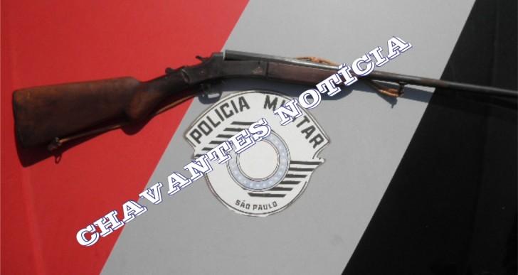 POLICIA MILITAR APREENDE ARMA DE FOGO NO J.D. DO SOL EM OURINHOS