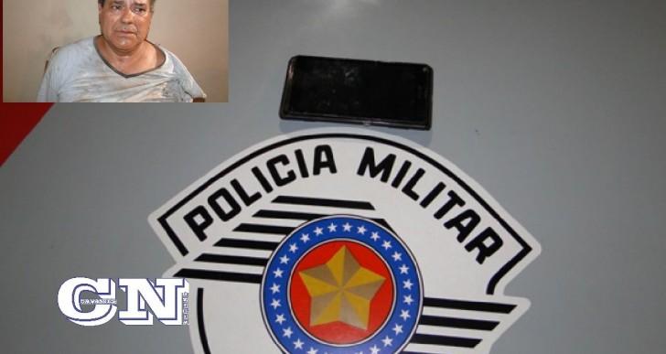 POLÍCIA MILITAR PRENDE INDIVÍDUO APÓS ROUBO TENTADO DE CELULAR NO JARDIM SANTA FÉ.