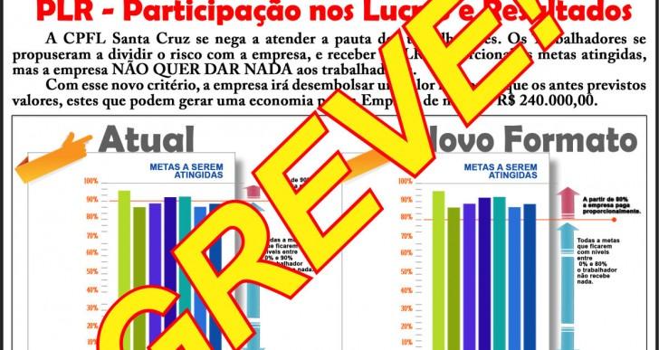 ELETRICITÁRIOS DA CPFL ENTRAM EM GREVE A PARTIR DA ZERO HORA (00:00h) DO DIA 31/08/2015