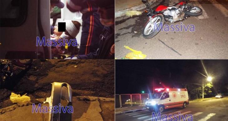 VEÍCULO COLIDE EM MOTOCICLETA E CONDUTOR FOGE SEM PRESTAR SOCORRO PRA VÍTIMA