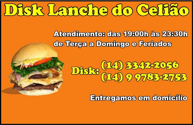 DISK LANCHE DO CELIÃO