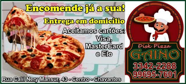 DISK PIZZA GAINO – ENCOMENDE JÁ A SUA!