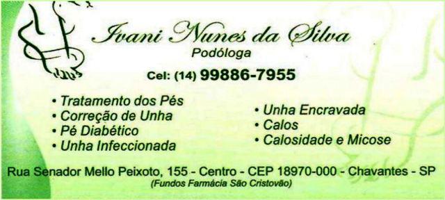 Ivani Nunes da Silva Podologa