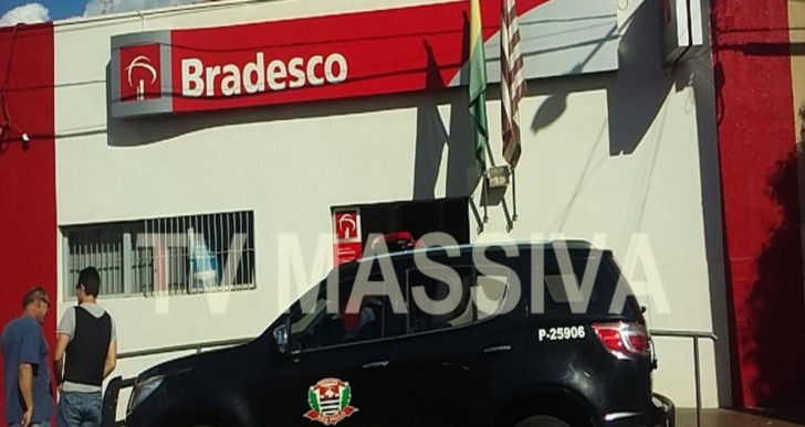 QUADRILHA FORTEMENTE ARMADA ASSALTA BANCO DO BRADESCO DE RIBEIRÃO DO SUL/SP