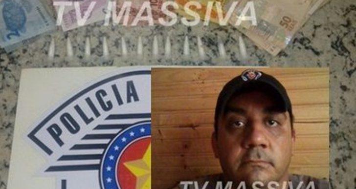 POLÍCIA MILITAR PRENDE DONO DE BAR COM 12 PINOS DE COCAÍNA EM SALTO GRANDE.