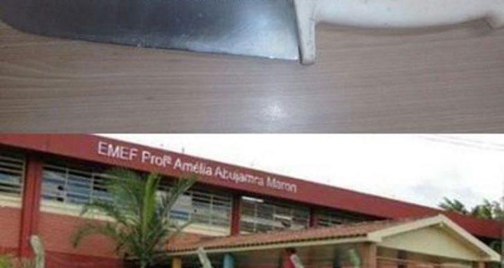 DIREÇÃO DE ESCOLA SURPREENDE ALUNA ARMADA COM FACA EM OURINHOS.