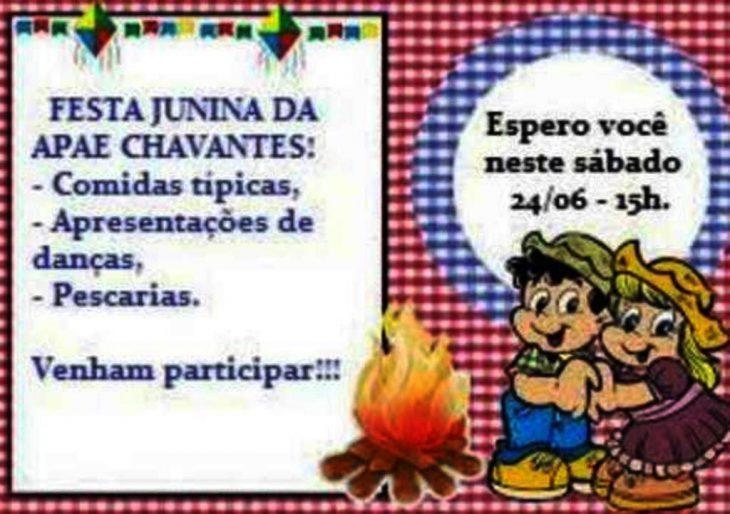FESTA JUNINA DA APAE DE CHAVANTES