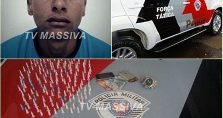 FORÇA TÁTICA DE OURINHOS PRENDE INDIVÍDUO NO TRÁFICO DE DROGAS DURANTE OPERAÇÃO EM MARÍLIA