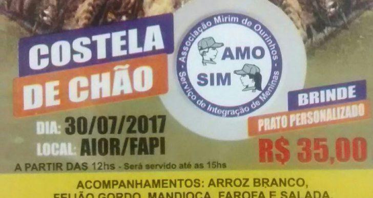 ASSOCIAÇÃO MIRIM DE OURINHOS REALIZARÁ COSTELA DE CHÃO – NÃO PERCA!!!
