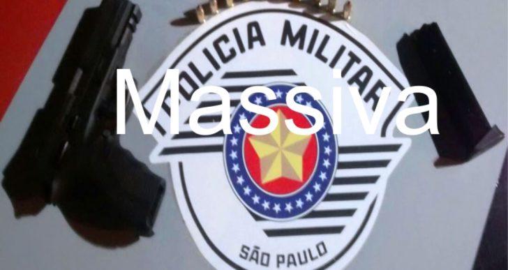POLICIA MILITAR PRENDE INDIVÍDUO POR PORTE ILEGAL DE ARMA FOGO
