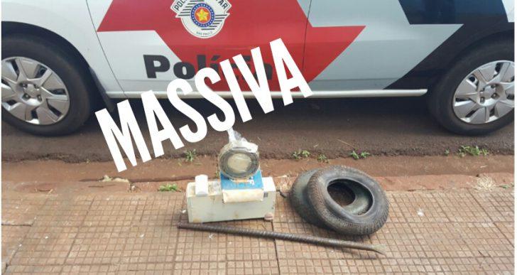 POLÍCIA MILITAR DE CHAVANTES APREENDE INDIVÍDUO APÓS FURTO NA USICAMP NO DISTRITO DE IRAPÉ