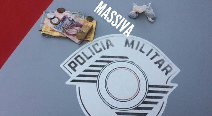 POLÍCIA MILITAR APREENDE INDIVÍDUO COM MACONHA NO DISTRITO DE IRAPÉ