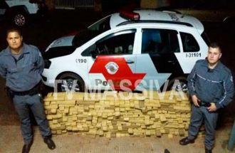 POLÍCIA MILITAR APREENDE 358 KG DE MACONHA PRÓXIMO A CHAVANTES