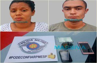 POLÍCIA MILITAR PRENDE CASAL POR TRÁFICO DE DROGAS EM CHAVANTES