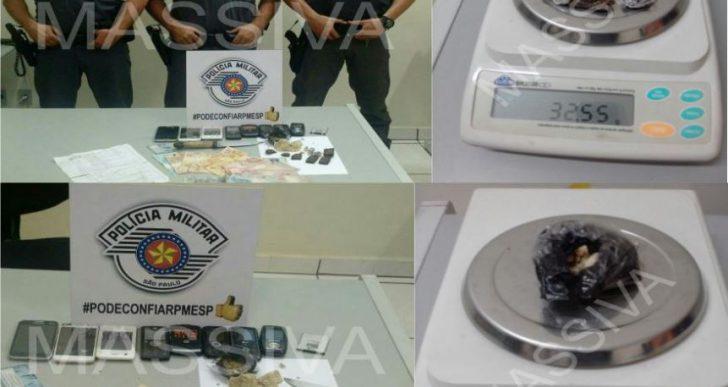 POLÍCIA MILITAR DE IPAUSSU PRENDE TRÊS INDIVÍDUOS NO TRÁFICO DE DROGAS PELO BAIRRO COCAJÁ