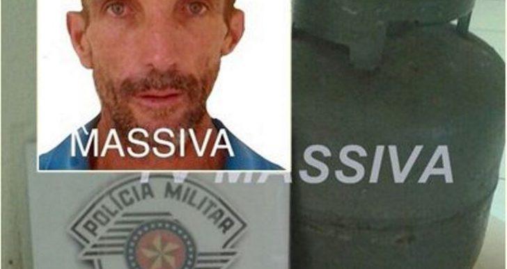 POLÍCIA MILITAR PRENDE COCO APÓS FURTAR BOTIJÃO EM RIBEIRÃO DO SUL