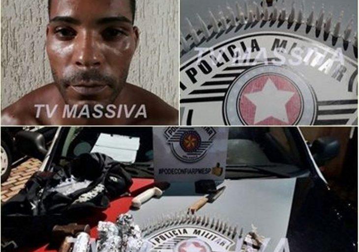 POLÍCIA MILITAR ESTOURA MOCÓ DE DROGAS NO CDHU E PRENDE DOIS NO TRÁFICO EM OURINHOS.