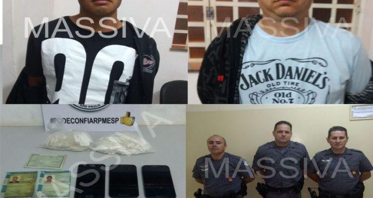 POLÍCIA MILITAR DE IPAUSSU APREENDE GRANDE QUANTIDADE DE COCAÍNA COM TRÊS INDIVÍDUOS QUE VOLTAVAM DE SÃO PAULO