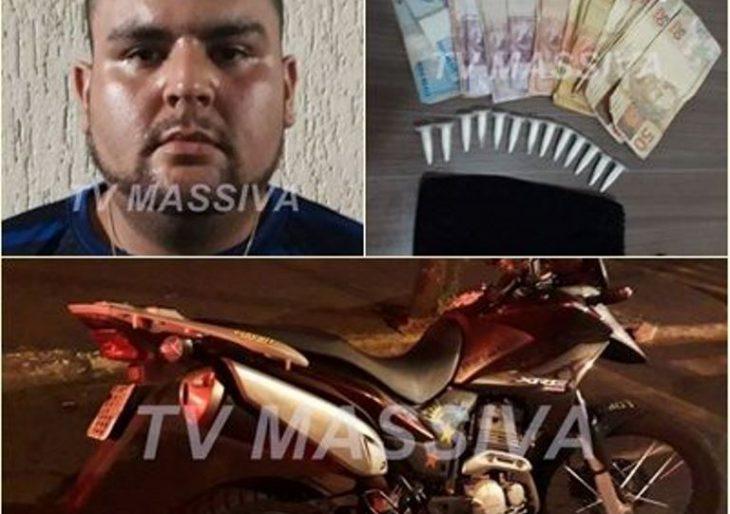 POLÍCIA MILITAR PRENDE MOTOTAXISTA COM DROGAS NO CENTRO DE OURINHOS