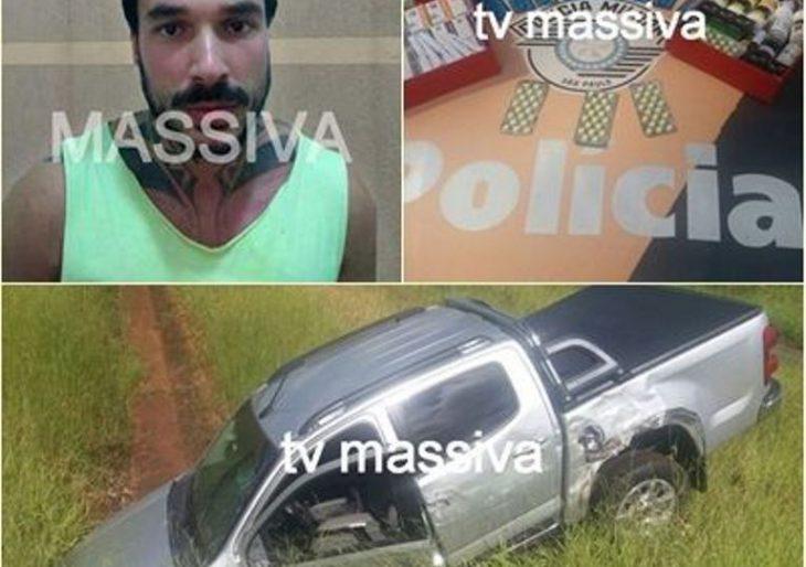 POLÍCIA MILITAR RODOVIÁRIA PRENDE MOTORISTA COM ANABOLIZANTES APÓS SE ENVOLVER EM ACIDENTE EM OURINHOS.