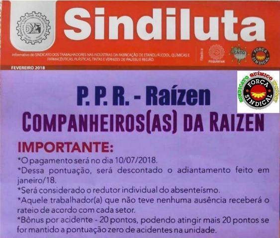 SINDICATO QUÍMICO ENTREGA AOS FUNCIONÁRIOS DA RAÍZEN DE IPAUSSU INFORMATIVOS COM ASSUNTOS RELEVANTES A ELES…