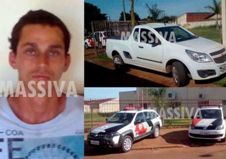 POLÍCIA MILITAR PRENDE MORADOR DE SOROCABA COM CARRO FURTADO NA RAPOSO TAVARES EM CANITAR