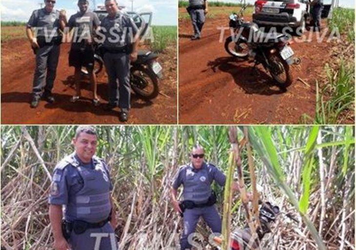 POLÍCIA MILITAR RECUPERA MOTO FURTADA EM CANITAR.