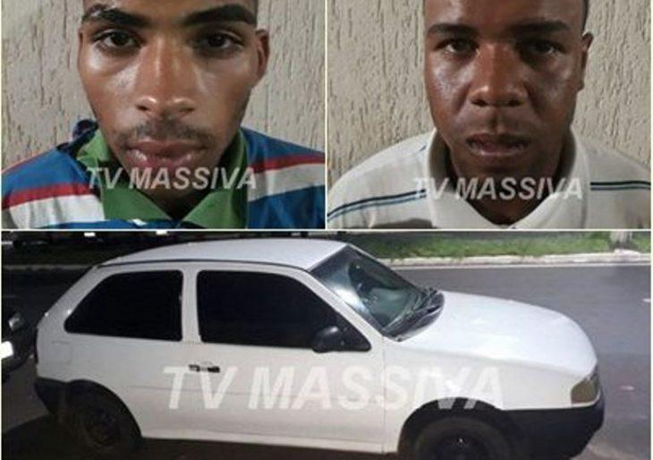 POLÍCIA MILITAR PRENDE DOIS APÓS FURTO DE VEÍCULO PRÓXIMO AO SARAU