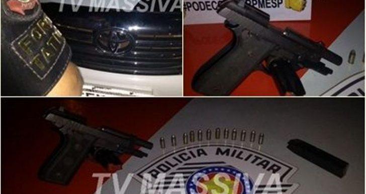 FORÇA TÁTICA APREENDE INDIVÍDUO COM UMA PISTOLA CALIBRE 380 NO DISTRITO DE IRAPÉ