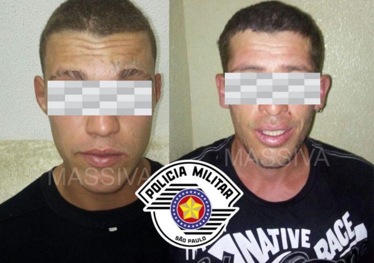 POLÍCIA MILITAR DE CHAVANTES DETÊM DOIS INDIVÍDUOS APÓS ROUBAREM UMA PESSOA IDOSA