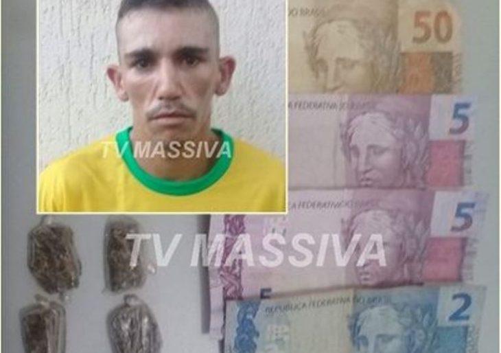POLÍCIA MILITAR PRENDE INDIVÍDUO NO TRÁFICO NA VILA MUSA