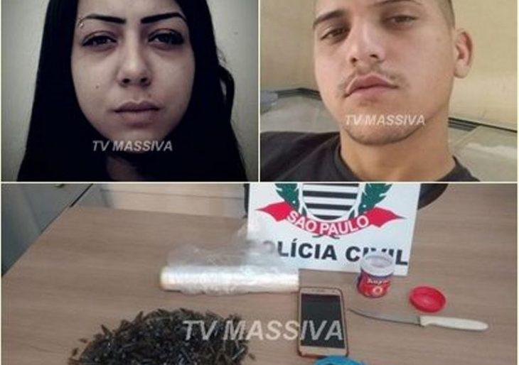 DISE PRENDE CASAL NO TRÁFICO DE DROGAS NA VILA SÃO LUIZ EM OURINHOS.