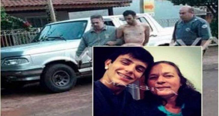 FILHO MATA MÃE COM 31 FACADAS E É PRESO EM FLAGRANTE PELA POLICIA MILITAR