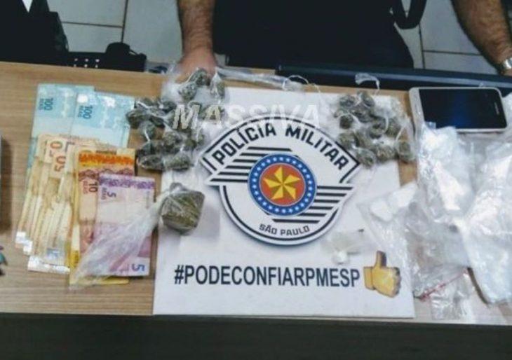 POLÍCIA MILITAR PRENDE QUATRO NO TRÁFICO DE DROGAS EM CHAVANTES.