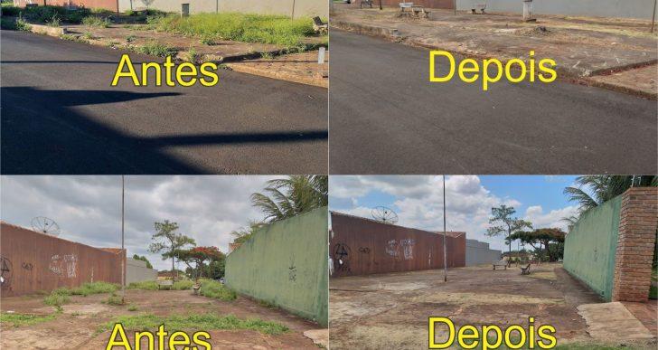 BURGUINHA ATENDE PEDIDO POPULAR E A PRAÇA DO CORETO GANHA UM NOVO ASPECTO