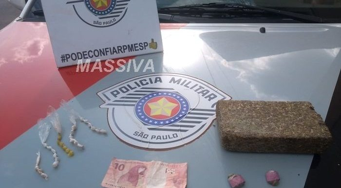 FORÇA TÁTICA PRENDE INDIVIDUO POR TRAFICO DE DROGAS EM CHAVANTES