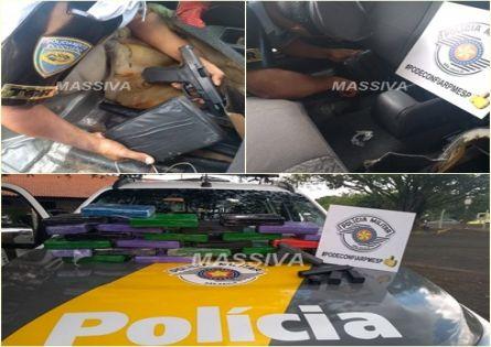 TOR PRENDE DOIS NO TRÁFICO DE DROGAS E PORTE ILEGAL ARMA DE USO RESTRITO EM IBIRAREMA.