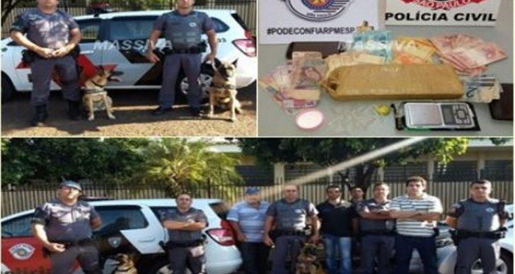 POLÍCIA MILITAR APREENDE CASAL DE NAMORADOS NO TRÁFICO DE DROGAS EM SALTO GRANDE