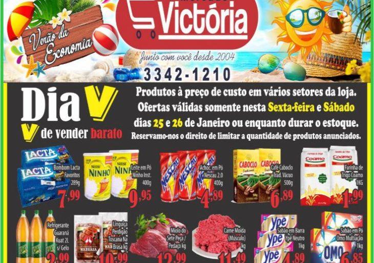 """MERCADO VICTÓRIA TRAZ O DIA """"V"""" DE VENDER BARATO  – NÃO PERCA AS OFERTAS!"""