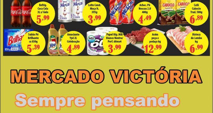 """DIA """"V"""" DE VENDER BARATO É NO MERCADO VICTÓRIA – NÃO PERCA A OPORTUNIDADE DE ECONOMIZAR!"""