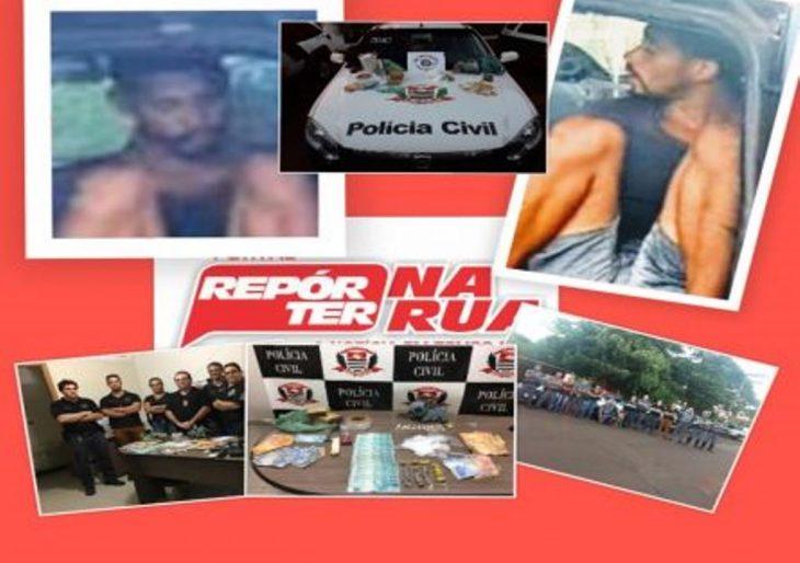 OPERAÇÃO CONJUNTA DAS POLÍCIA CIVIL E MILITAR PRENDE JUNINHO NO TRÁFICO DE DROGAS EM SALTO GRANDE.