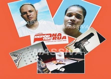 FORÇA TÁTICA PRENDE CASAL NO TRÁFICO DE DROGAS NO DISTRITO DE IRAPÉ.