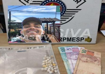APÓS CONFUSÃO NO DISTRITO DE IRAPÉ INDIVÍDUO É PRESO PELA FORÇA TÁTICA NO TRÁFICO DE DROGAS