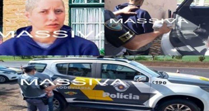 POLÍCIA RODOVIÁRIA ESTADUAL PRENDE MULHER COM UM TIJOLO DE CRACK