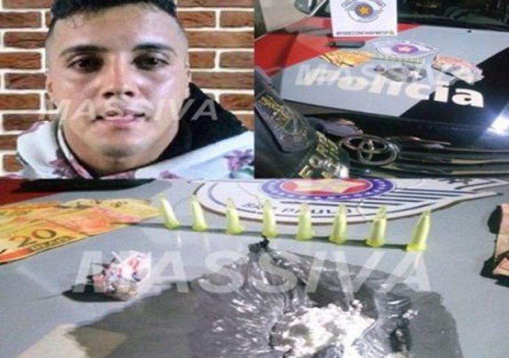 FORÇA TÁTICA PRENDE INDIVÍDUO NO TRÁFICO DE DROGAS NO HBV.