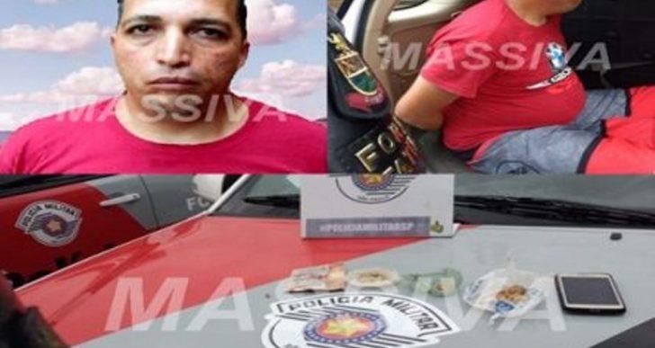 FORÇA TÁTICA PRENDE ROY NO TRÁFICO DE DROGAS NO JD ITAJUBI.