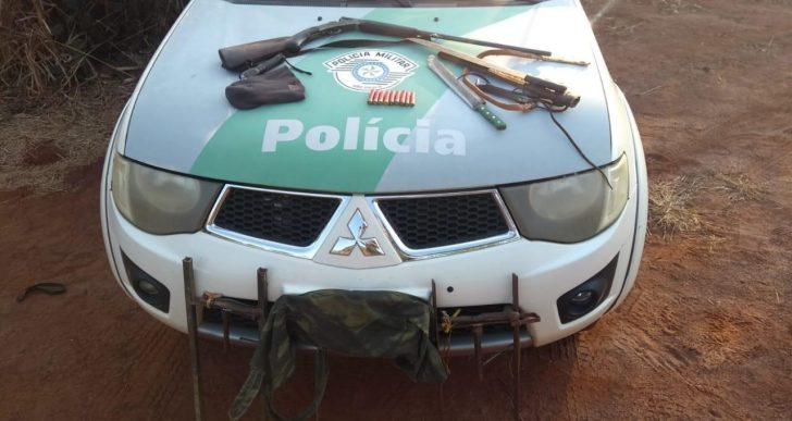 POLICIA AMBIENTAL APREENDE DOIS INDIVÍDUOS POR PORTE ILEGAL DE ARMA DE FOGO EM OURINHOS