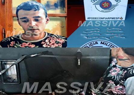 FORÇA TÁTICA PRENDE TIUQUINHA NO TRÁFICO DE DROGAS NA VILA MUSA.