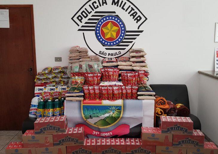 POLICIA MILITAR DE CHAVANTES A TODO VAPOR NA CAMPANHA EM PROL DO ASILO SÃO VICENTE DE PAULO